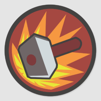 Banhammer Classic Round Sticker