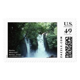 Banias Waterfall Stamp