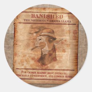 """Banish Drama Llamas - 3"""" Stickers"""