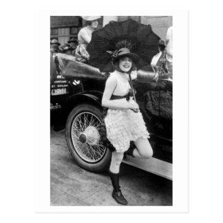 Bañista de Los Ángeles, 1900s tempranos Tarjetas Postales