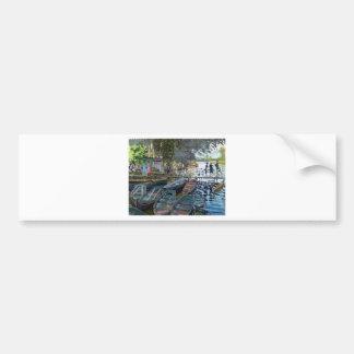 Bañistas de Monet en el La Grenouillère Pegatina Para Auto