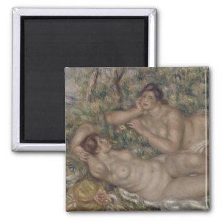 Bañistas de Pierre-Auguste Renoir Imán Para Frigorifico