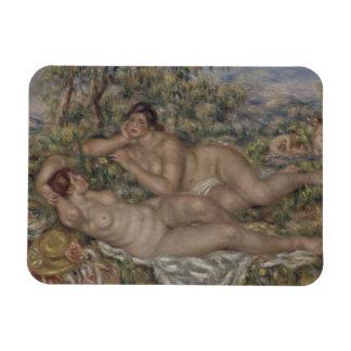 Bañistas de Pierre-Auguste Renoir Iman Rectangular