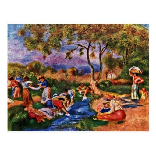 Bañistas de Pierre-Auguste Renoir (la mejor calida Postal