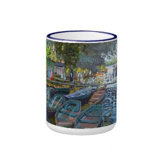 Bañistas en el La Grenouillere Claude Monet Taza A Dos Colores