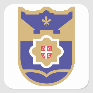 Banja Luka Coat of Arms Square Sticker