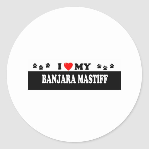 BANJARA MASTIFF CLASSIC ROUND STICKER