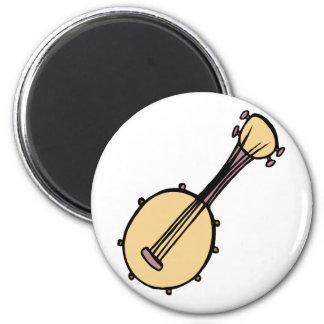 Banjo Abstract Cream Purple Graphic Design Fridge Magnet