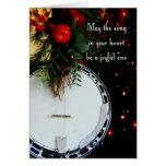 Banjo alegre del día de fiesta de la canción de la tarjeta de felicitación