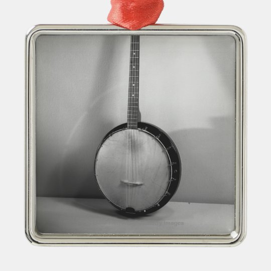 Banjo B&W Metal Ornament