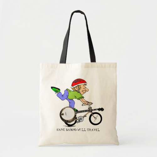 Have Banjo Will Travel Budget Tote Bag