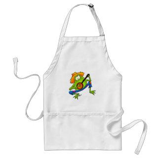 Banjo Bluegrass Frog Adult Apron