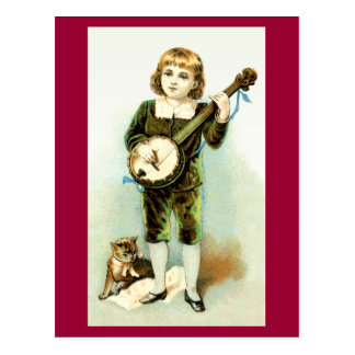 Banjo Boy Postcard