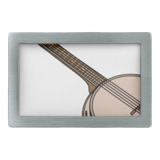 Banjo Cartoon Belt Buckle