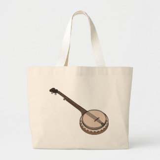 Banjo Cartoon Large Tote Bag