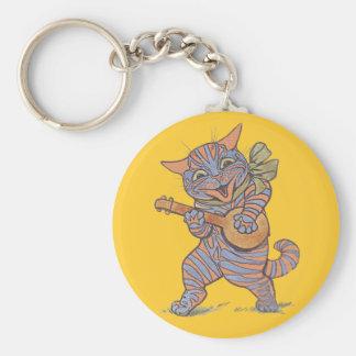 Banjo Cat Keychain