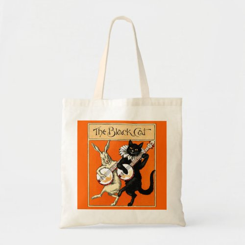 The Black Cat Banjo Budget Tote Bag
