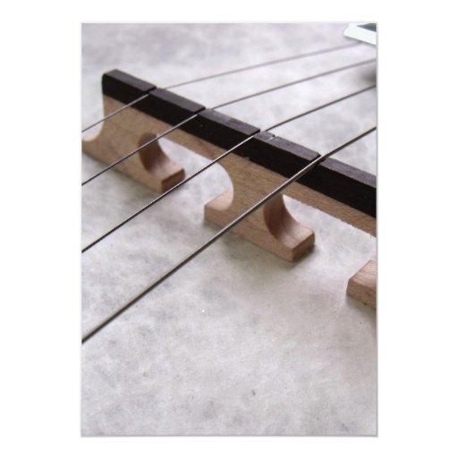Banjo Closeup Photo 5x7 Paper Invitation Card