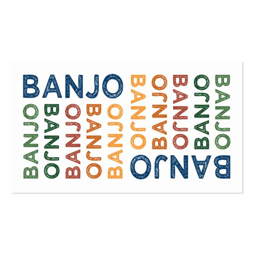 Banjo Colorful Business Card