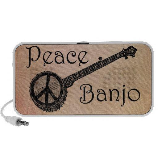 Banjo con el signo de la paz iPod altavoz