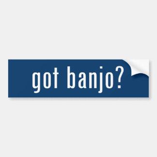 ¿banjo conseguido? etiqueta de parachoque