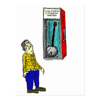 Banjo de la emergencia tarjetas postales