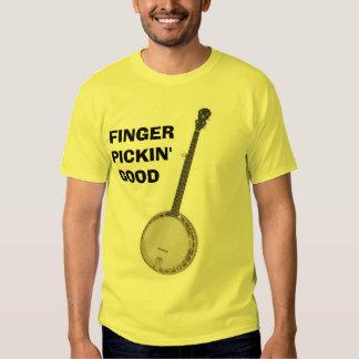 Banjo - dedo Pickin bueno Remeras