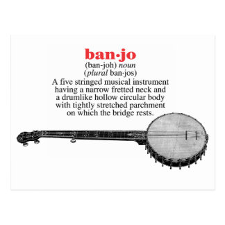 Banjo Definition Postcard