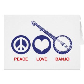 Banjo del amor de la paz felicitacion