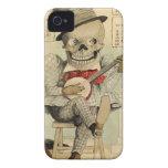 Banjo del vintage que juega el esqueleto Case-Mate iPhone 4 protectores
