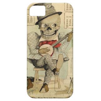 Banjo del vintage que juega el esqueleto iPhone 5 Case-Mate funda