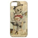 Banjo del vintage que juega el esqueleto iPhone 5 funda