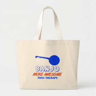 banjo design large tote bag