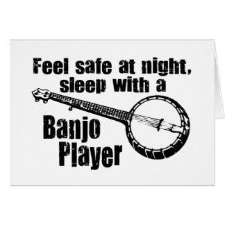 Banjo divertido tarjeta de felicitación