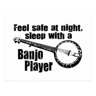 Banjo divertido tarjeta postal