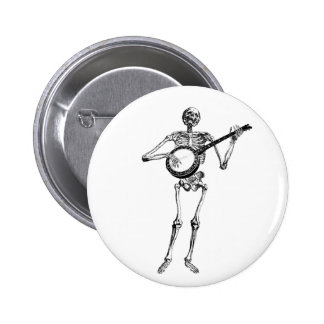 banjo dude pinback button