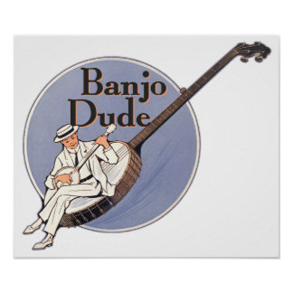 Banjo Dude Poster