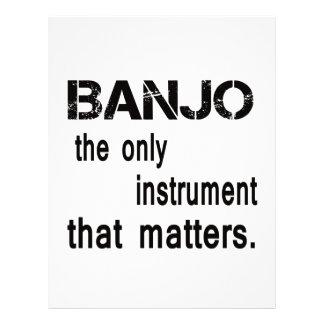 Banjo el único instrumento que importa plantilla de membrete