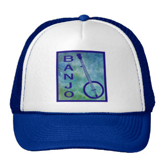 Banjo en azul gorros