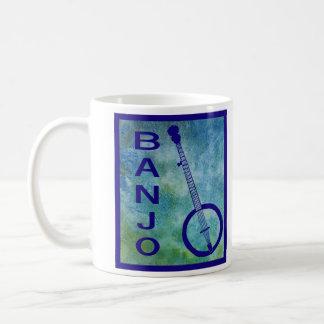 Banjo en azul tazas