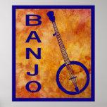 Banjo en el naranja poster