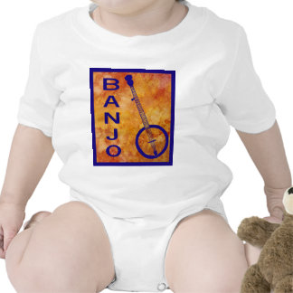 Banjo en un campo ardiente camisetas