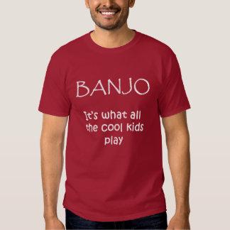 BANJO. Es lo que juegan todos los niños frescos Camisas