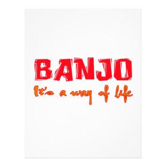 Banjo es una manera de vida plantillas de membrete