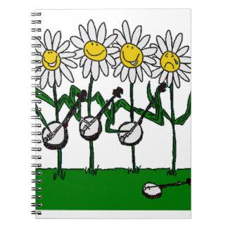 Banjo Flowers Notebook