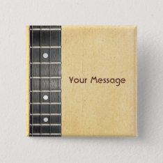 Banjo Fretboard Badge Name Tag Button at Zazzle