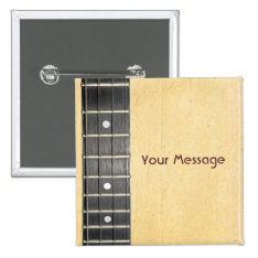 Banjo Fretboard Badge Name Tag Button at Zazzle