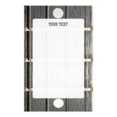 Banjo Fretboard Framed Writing Paper at Zazzle