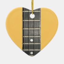 Banjo Fretboard Heart Christmas Tree Ornament at Zazzle