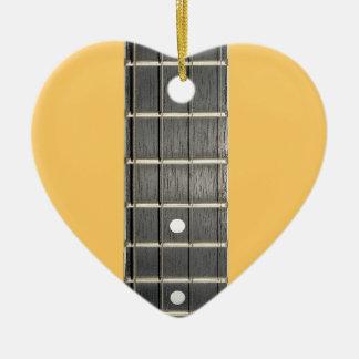 Banjo Fretboard Heart Christmas Tree Ornament